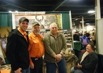 Aarron and Dave with client at sportshow